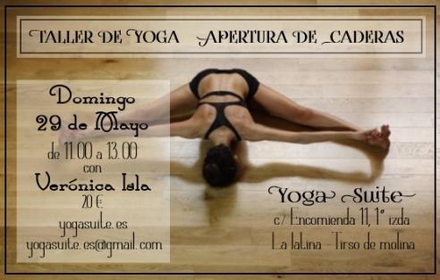 taller yoga caderas yogasuite madrid